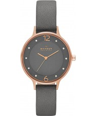 Skagen SKW2267 Ladies Anita Grey Leather Strap Watch