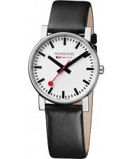 Mondaine A660-30344-11SBB Evo Black Leather Strap Watch