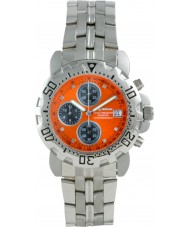 Krug Baümen 241269DM-O Mens Sportsmaster Diamond Orange Dial