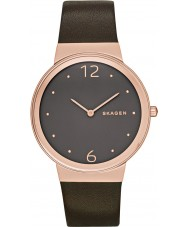 Skagen SKW2368 Ladies Freja Chocolate Leather Strap Watch