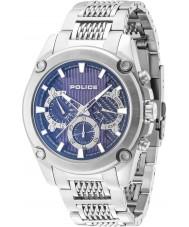 Police 14543JS-03M Mens Mesh Up Silver Steel Bracelet Watch