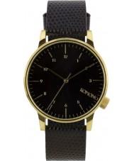 Komono KOM-W2551 Winston Monte Carlo Black Lizard Watch