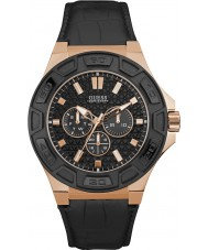 Guess W0674G6 Mens Force Black Leather Strap Watch