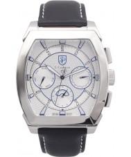 S Coifman SC0087 Mens Black Leather Strap Watch