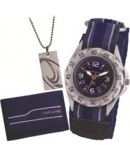 Kahuna AKKS-0001M Boys Gift Set - Velcro Watch with Dog Tag and Wallet Set