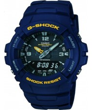 Casio G-100-2BVMUR Mens G-Shock Blue Resin Strap Watch