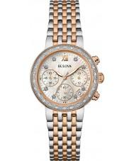 Bulova 98W215 Ladies Diamond Two Tone Steel Bracelet Chronograph Watch