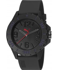 Puma PU103801005 Rock Black Silicone Strap Watch