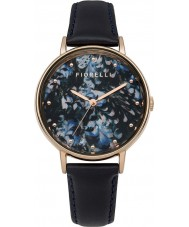 Fiorelli FO010URG Ladies Navy Leather Strap Watch with Printed Dial