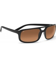 Serengeti Livorno Shiny Black Drivers Gradient Sunglasses