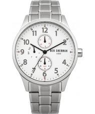 Ben Sherman WB004SM Mens White and Steel Bracelet Watch