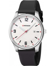 Wenger 01-1441-108 Mens City Active Black Silicone Strap Watch