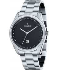 Fjord FJ-3002-11 Mens Dan 3 Hand Black Silver Watch