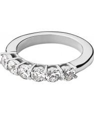 Dyrberg Kern 336831 Ladies Carlie III Silver Steel Crystal Ring