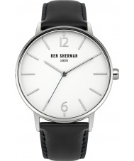 Ben Sherman WB059BU Mens Portobello Black Leather Watch with Interchangable Strap