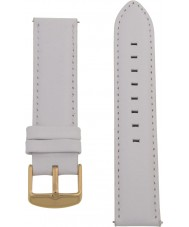 Charles Conrad CDA1006-17-L24 White Leather Strap