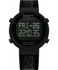 Superdry SYG203BB Mens Digi Pedometer Black Silicone Strap Watch