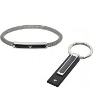 Emporio Armani EGS2613040 Mens Bracelet and Keyring Gift Set