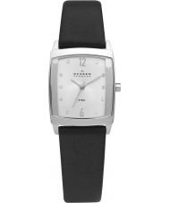 Skagen 691SSLS Ladies Klassik Black Leather Strap Watch