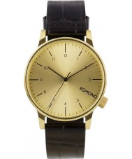 Komono KOM-W2550 Winston Monte Carlo Black Croc Watch