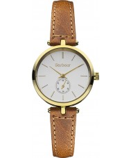 Barbour BB011GDTN Ladies Lisle Brown Leather Strap Watch