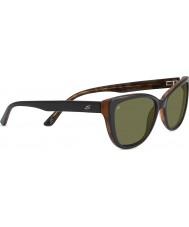 Serengeti Sophia Shiny Black Polarized 555nm Sunglasses