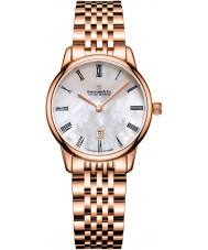 Dreyfuss and Co Ladies 7 Links Rose Gold Plated Bracelet Watch