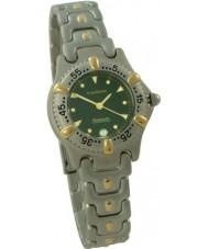 Krug-Baumen 1914kl Ladies Oceanmaster Green Dial Two Tone Bracelet Watch