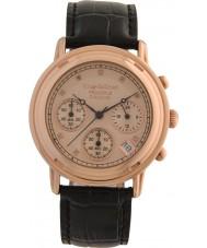 Krug-Baumen 150577DM Principle Diamond Mens Rose Gold Strap Watch