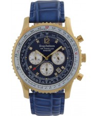 Krug-Baumen 600207DS Mens Air Traveller Diamond Watch