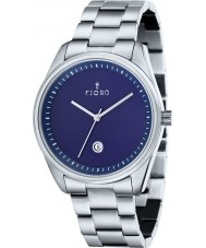 Fjord FJ-3002-22 Mens Dan 3 Hand Blue Silver Watch