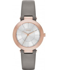 DKNY NY2296 Ladies Stanhope 2.0 Matt Grey Leather Strap Watch