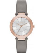 DKNY NY2296 Ladies Stanhope 2.0 Matt Grey Leather Strap Watch