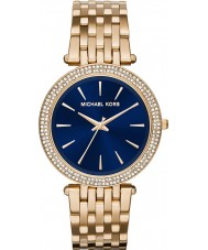 Michael Kors MK3406 Ladies Darci Navy Blue Gold Plated Watch
