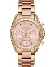 Michael Kors MK6316 Ladies Blair Gold and Rose Chronograph Watch