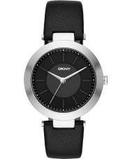 DKNY NY2465 Ladies Stanhope 2.0 Black Leather Strap Watch