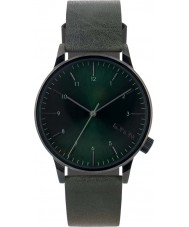Komono KOM-W2257 Mens Winston Regal Green Leather Strap Watch
