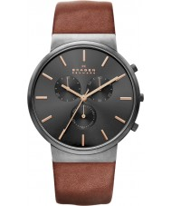 Skagen SKW6106 Mens Ancher Light Brown Chronograph Watch