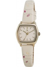 Radley RY2162 Ladies Cream Leaf Stitched Leather Strap Watch
