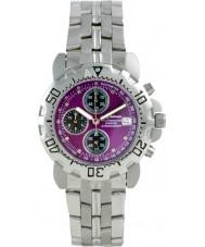 Krug Baümen 241269DM-PU Mens Sportsmaster Diamond Purple Dial