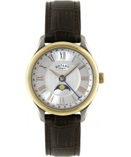 Rotary GS02850-06 Mens Silver Brown Watch