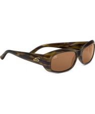 Serengeti Bianca Tortoiseshell Stripe Polarized Drivers Sunglasses
