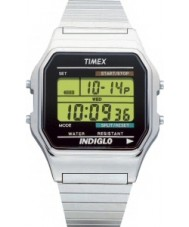 Timex T78587 Mens Silver Classic Digital Chronograph Watch
