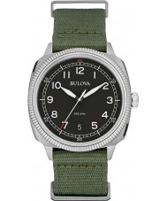 Bulova 96B229 Mens Military UHF Black Green Watch
