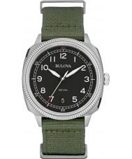 Bulova 96B229 Mens Military UHF Black Green Watch