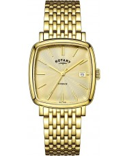Rotary GB05308-03 Mens Timepieces Windsor Champagne Gold Plated Watch