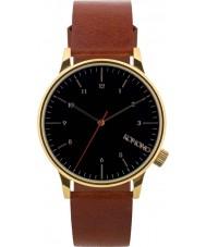 Komono KOM-W2258 Mens Winston Regal Pecan Leather Strap Watch