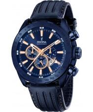 Festina F16898-1 Mens Prestige Blue Leather Chronograph Watch