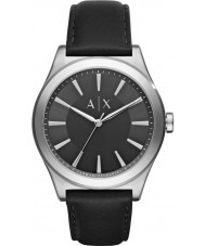 Armani Exchange AX2323 Mens Dress Black Leather Strap Watch