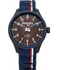 Superdry SYG185U Ladies Scuba Ski Blue Silicone Strap Watch